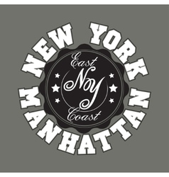 New york city typography graphics t-shirt vector