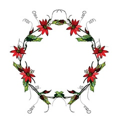 Passiflora wreath2 vector