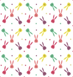 Seamless pattern with cute bunny vector