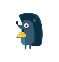 Hedgehog Party Animal Icon vector image