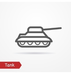 Tank silhouette icon vector image