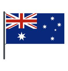 Australian flag icon isolated vector