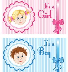 Baby announcement cards vector