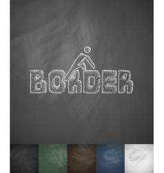 Border icon hand drawn vector