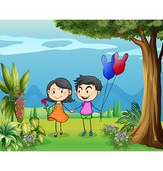 Boy Girl Couple vector image vector image