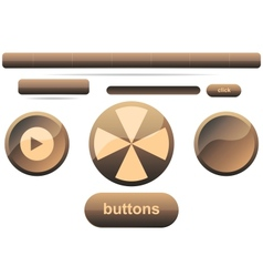 button icon set vector image vector image