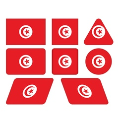 buttons with flag of Tunisia vector image vector image