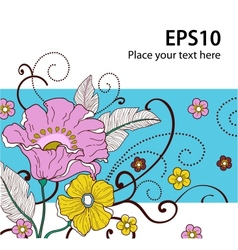 Card with flowers 2 vector image