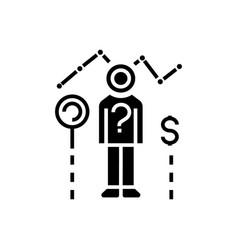 consumer research icon black vector image vector image