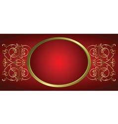 decorative ornament frame vector image vector image