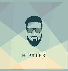 Fashion green silhouette hipster style vector