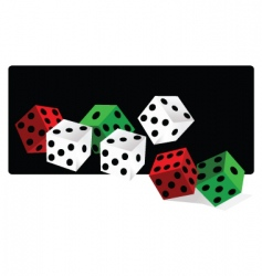 gamble dice vector image