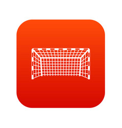 Goal post icon digital red vector
