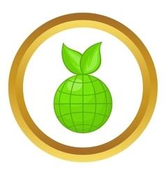 Green planet icon vector image vector image