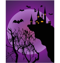 Halloween invitation or background vector