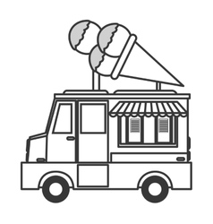 Ice cream truck icon vector