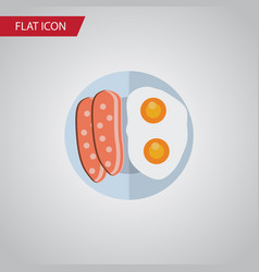 isolated breakfast flat icon fried egg vector image vector image