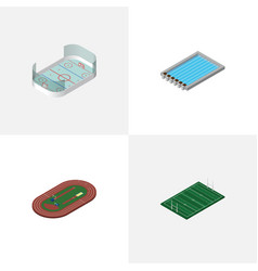 Isometric sport set of american football ice vector