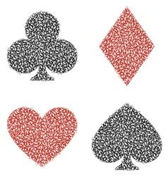 Leaf Playing Card vector image vector image