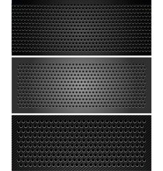 Metallic perforated sheet vector