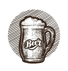 Mug of beer symbol Cold and fresh ale icon vector image vector image