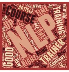 NLP Trainers How To Find A Good One text vector image