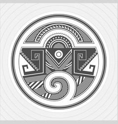 North america pueblo indians graphic art tattoo vector