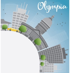 Olympia Washington Skyline with Grey Buildings vector image vector image