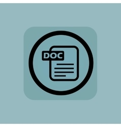 Pale blue DOC file sign vector image vector image