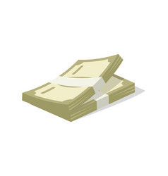 Paper money cash icon vector
