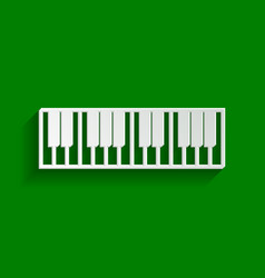 Piano keyboard sign paper whitish icon vector