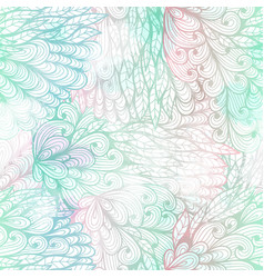 Seamless floral grunge blue and pink pattern vector
