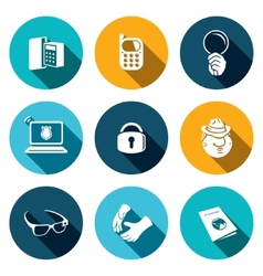 Spying icon set vector image vector image