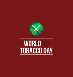 Style background for no tobacco day vector