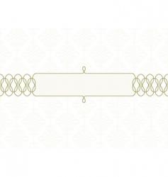 swirl frame subtle vector image