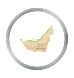 Territory of United Arab Emirates icon in cartoon vector image