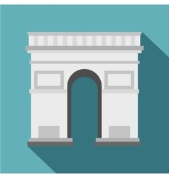 Triumphal arch icon flat style vector