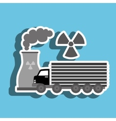 Truck and reactor isolated icon design vector