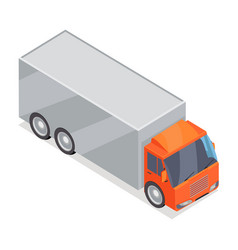 truck icon in isometric projection vector image vector image
