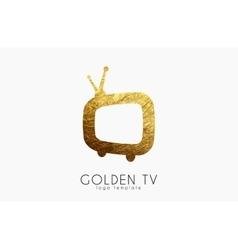 TV logo Creative tv logo design Media design vector image