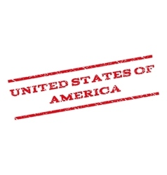 United states of america watermark stamp vector