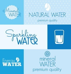 water label resize vector image