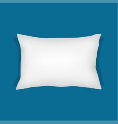 white rectangular pillow cushion vector image