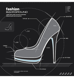 Woman shoe design vector image