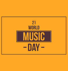 World music day celebration vector