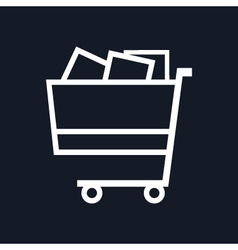 Cart isolated on black background vector
