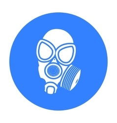 Gas masks icon black single weapon icon from the vector