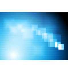 Bright blue tech design vector image