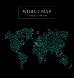 World map abstract design dot and line connection vector