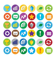 Round website social navigation icons vector